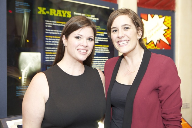 1280 Amy Ward, left, and Tracie Tate at the Passport to the World wine and food event at The Health Museum October 2014