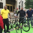 Mayor Annise Parker and Chester Pitts Downtown Bicycle Park Connector two-way bike track March 2015