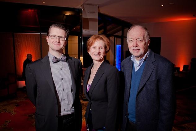 Jason Raschen, from left, Trish Rigdon and Joe Wilson at the Texas Film Awards Event February 2015