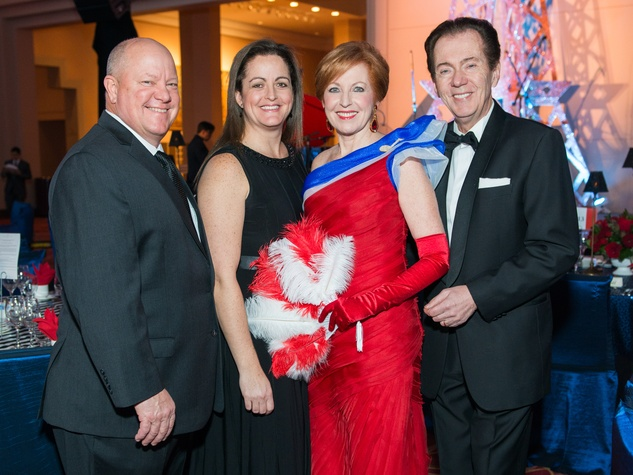 2 Roger and Shelley Cooper, from left, and Nancy and Hans Strohmer at the Moores School Gala March 2015