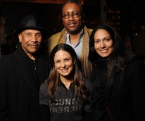 17 John Guess Jr., from left, Karen Farber, Michael Ray Charles and Divya Murthy at the CounterCurrent Kickoff Party March 2015