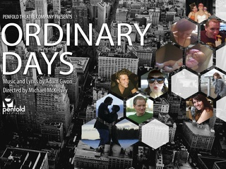 poster for Penfold Theatre Company production Ordinary Days
