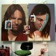Artist of the Year 2013, Rachel Hecker, Jesus paintings in progress