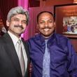 Dr. Jitendra Kikani, left, and Nadeem Anwar at the Medical Bridges Gala September 2014