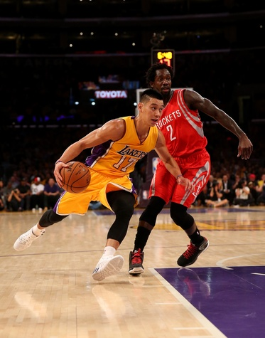 Jeremy Lin drive Lakers
