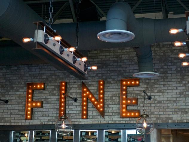 Bradley's Fine Diner April 2014 FINE neon sign