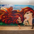 News, Shelby, Muir Gallery mural party, July 2015,