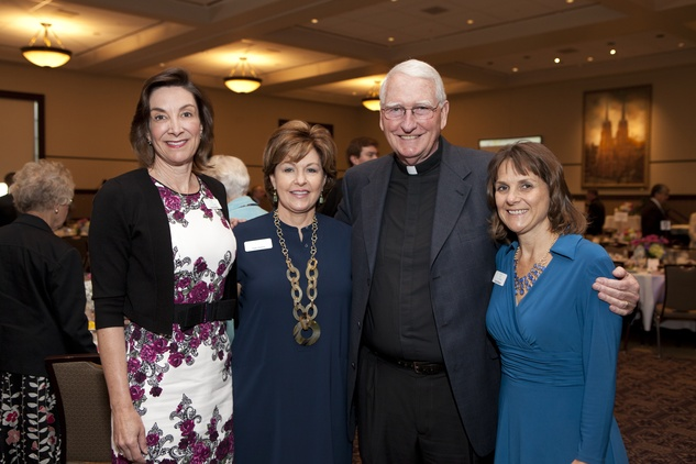 138 Lorna Bradley, from left, Patti Hatton, Bill Wigmore and Amy Bezecny at the Hope and Healing Center luncheon May 2014