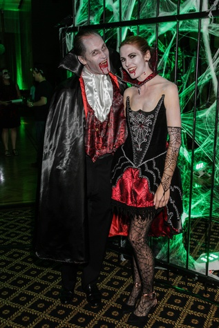 17 James Bell and Emmelie Kopp at The Patroleum Club Halloween party November 2014