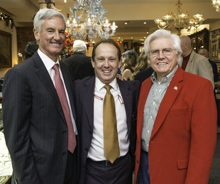 23 Paul Barnhart, from left, Franco Valobra and Cappy Bisso at the Valobra party December 2014