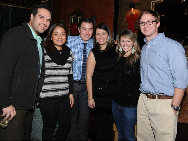 Enrique Lozano, Samantha Tello, Brad Parker, Jana Parker, Megan Dobbertien, Matt Dobbertien, dcac party