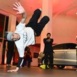 Break dancers at the Audi Central Houston grand opening March 2014