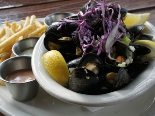 Mussels and frites at Old Monk in Dallas