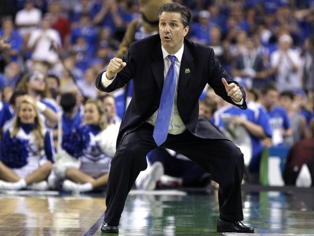 John Calipari on sideline