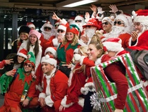 Shelby Hodge: 200 Young Professional Santas expect