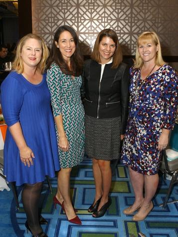 Amber Zable, Michelle Slaughter, Sarah Morgan, Kyle Huckaby, JLD milestone luncheon
