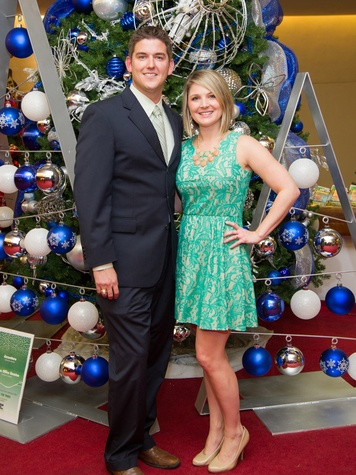 13 Kyle and Bobbie Tschudy at the Alley Theatre's Deck the Trees Celebration November 2013