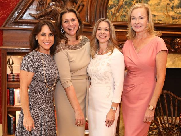Houston, Barbara Bush Literacy Foundation Guild Tea, Nov. 2016, Maria Bush, Donatella Benckenstein, Julie Baker Finck, Alice Mosing