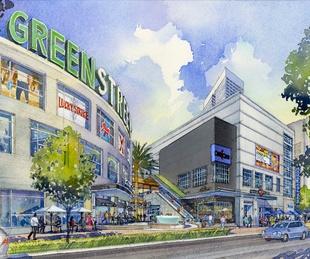 GreenStreet, Houston Pavilions, April 2013, Rendering 4 Caroline