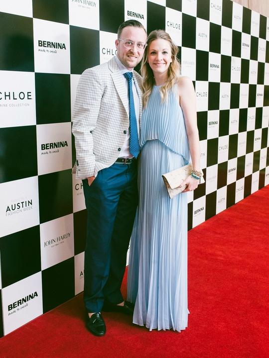 Austin Fashion Week 2016 red carpet Ross Bennett Erin Bennett