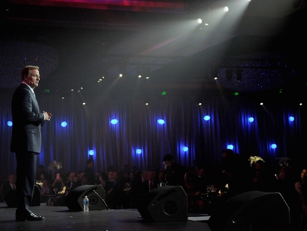 NFL Commissioner Roger Goodell at Luminaries Super Bowl Gala