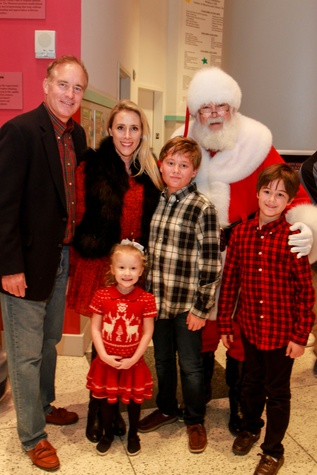 Children's Museum holiday party, Santa, Mark Sullivan, Christie Sullivan, children