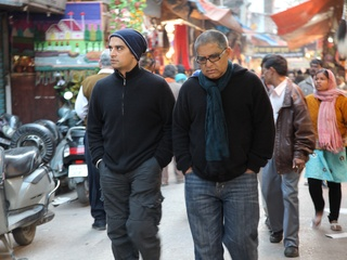Decoding Deepak, Deepak Chopra, Gotham Chopra, walking, October 2012