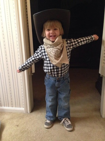 Go Texan Day February 2014 darling little boy