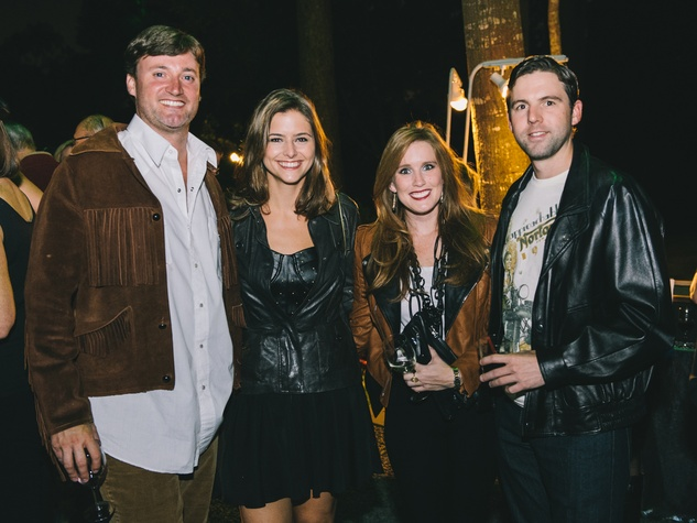 12 Travis and Brittany Cassin, from left, with Laura Avant and Daniel Arnoldy at the Bayou Preservation Association's Born on the Bayou party October 2013