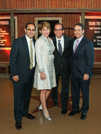 News_Genesys dinner_April 2012_Rafael Alvarez_Denise Hazen_George Postolos_Charles Hazen