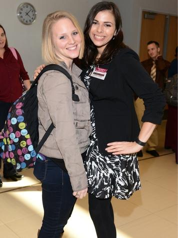 Kara Erickstad and Natalie Meddaugh , TWU celebration