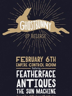 poster for the Ghostbunny EP release party