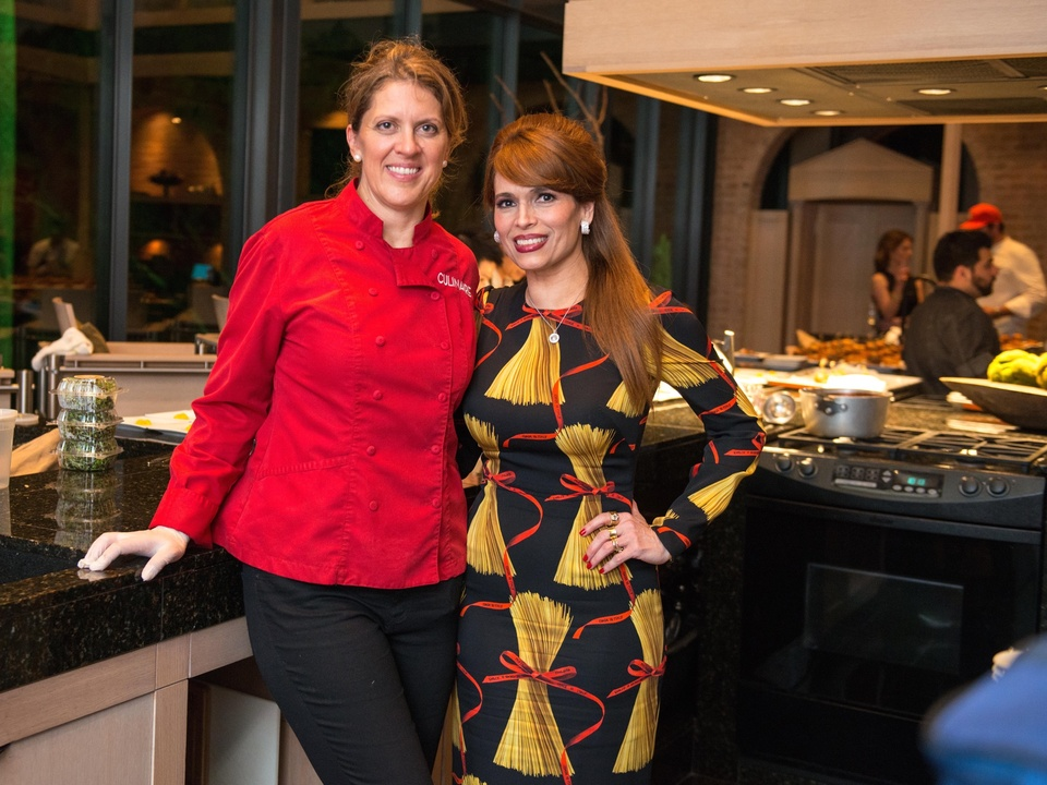 Barbara McKnight, Karina Barbieri at Recipe for Success dinner