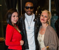 Lucy Dang, Charles Smith, Lori Williamson at Lash Loft grand opening