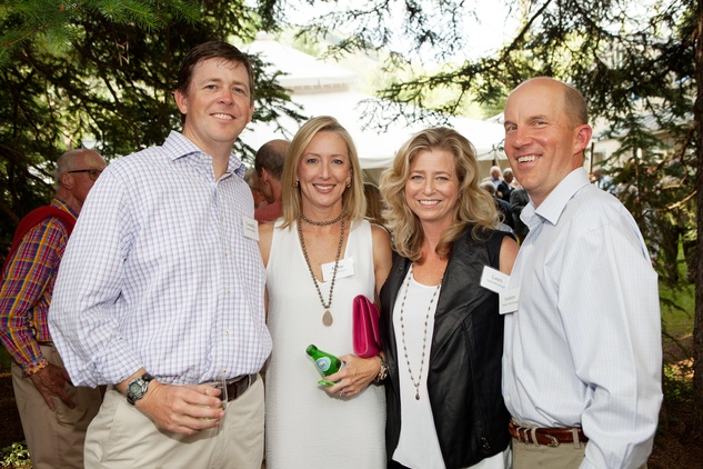 Connelly and Jackie McGreevy, from left, and Laura and Andrew McCullough at M.D. Anderson in Aspen July 2014
