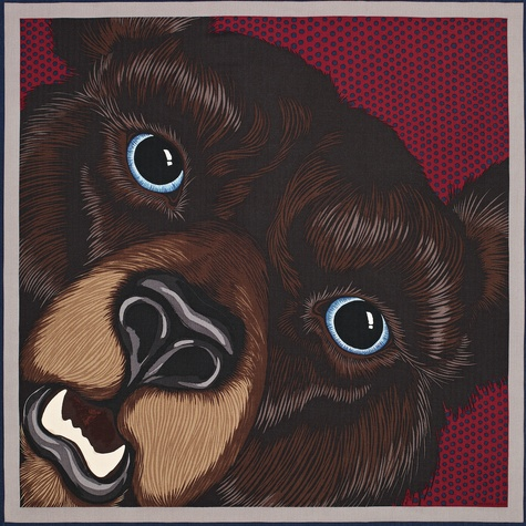 Hermes bear scarf