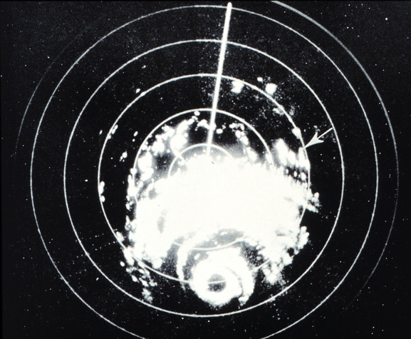 Hurricane Carla on radar