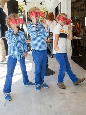 Bennett Richard, 7, Lawson Richard, 8, and Benton O'Banion, 8