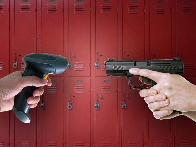 barcode gun, pistol, gun, University of Houston