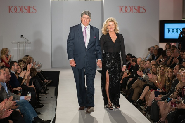 Mike and Susan Plank  at the Tootsies Love's in Fashion event February 2015
