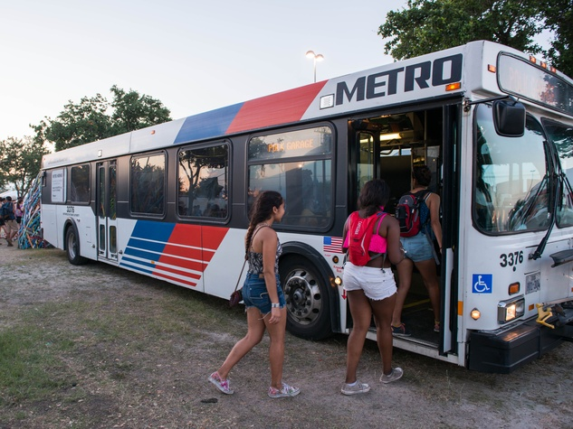 METRO bus as relief station at Free Press Summer Fest