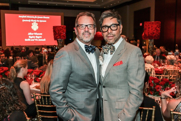 Todd Fiscus, left, and Ceron at the Interfaith Ministries Tapestry Gala May 2014