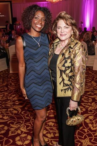 Yekcira Burnom, left, and Beth Wolff at the Medical Bridges Gala September 2014