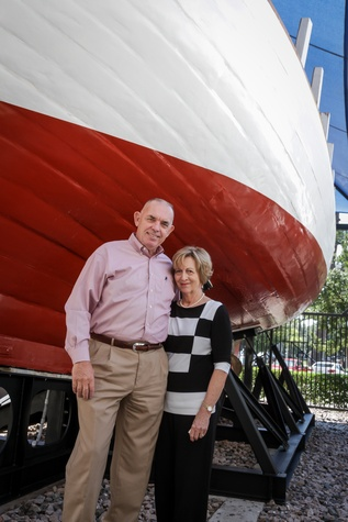 Holocaust Museum Houston HMH Danish Rescue Boat Restoration Project Manager Walter Hansen and wife Nancy