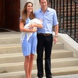 Kate Middleton and Prince William with baby