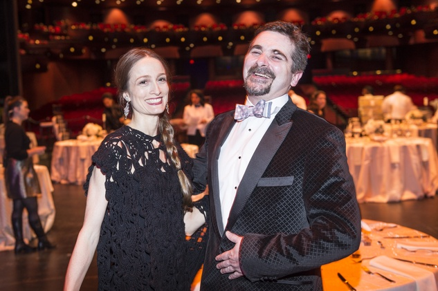 Julie Kent and Stanton Welch at the Houston Ballet Jubilee of Dance Onstage Dinner December 2014