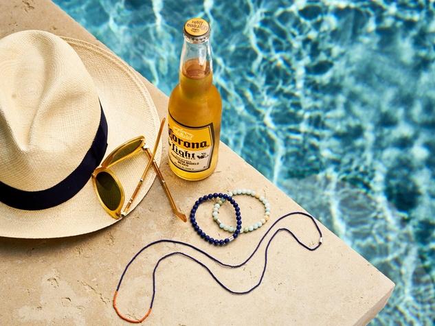 josh madans, corona bracelets pool