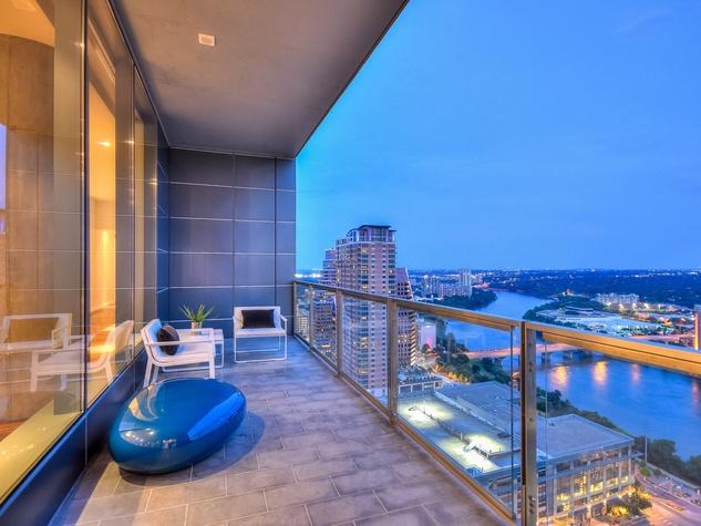 210 Lavaca Austin condo for sale balcony