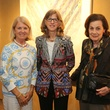 11 Ellen Simmons, from left, Patty Porter and Patty Hubbard at the Meredith Long Kenneth Noland opening September 2014