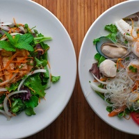 Dishes at The Mint Asian fusion restaurant in Dallas